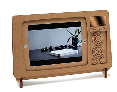 cardboard ipad and ipad air tv stand