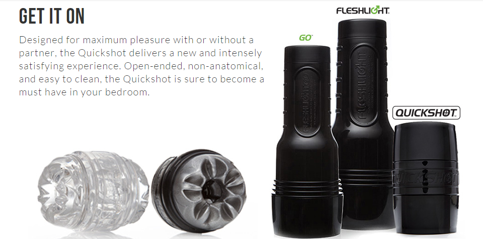 new quickshot collection by fleshlight