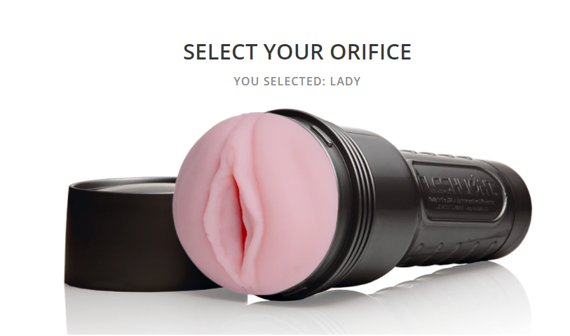 Select your lady orifice from fleshlight builder