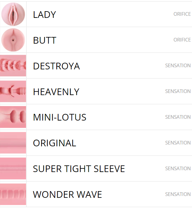 6 sleeves to choose from in the latest fleshlight deal 2020