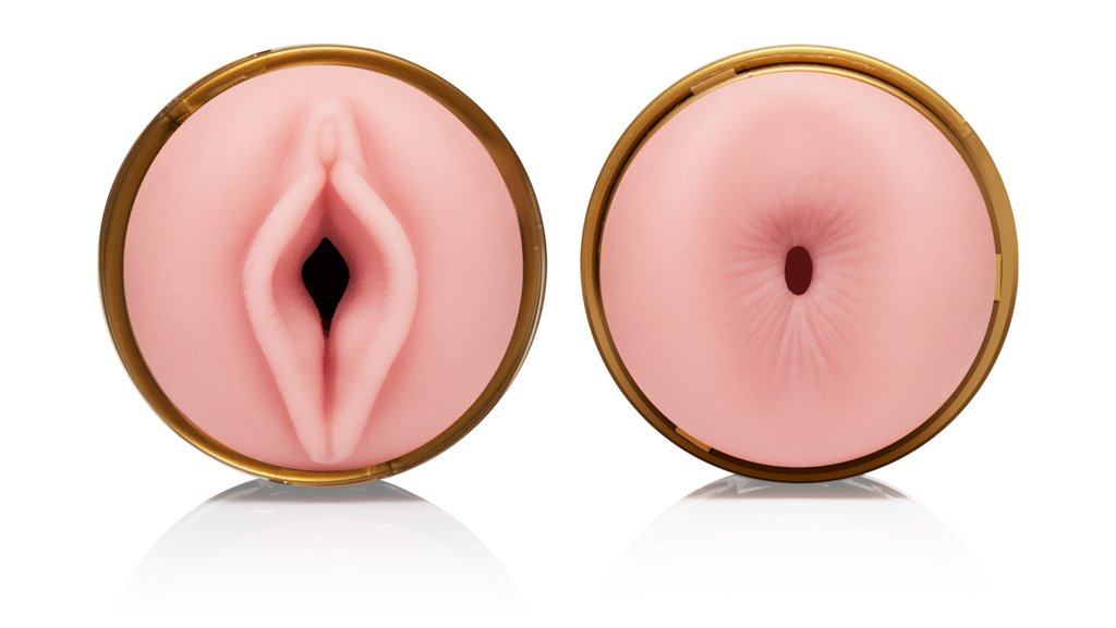 Fleshlight Quickshot Stamina Training Unit front and back orifice.