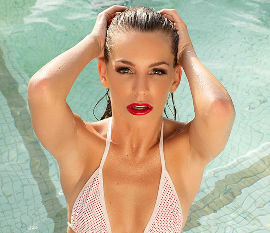 Kimmy Granger in a pool