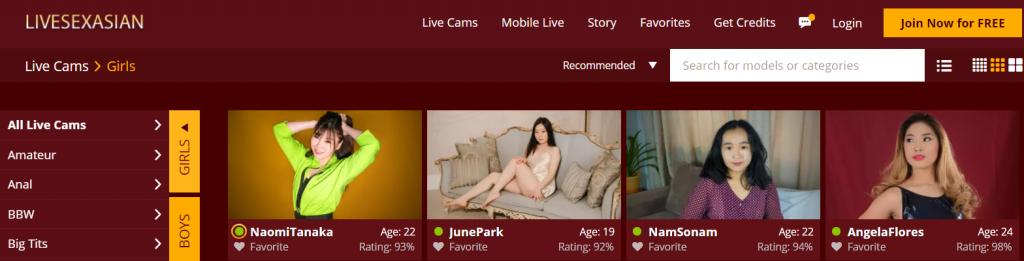 Fifth best Asian cam site